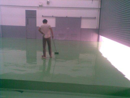 eplikasi epoxy hijau